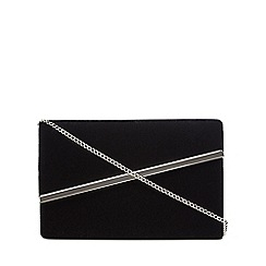 Debut - Black velvet asymmetric clutch bag