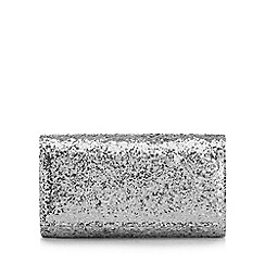 Debut - Silver glitter small cross body bag