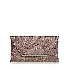 Debut - Multi-coloured glitter envelope clutch bag