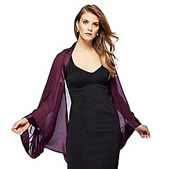 Debut - Purple chiffon shrug