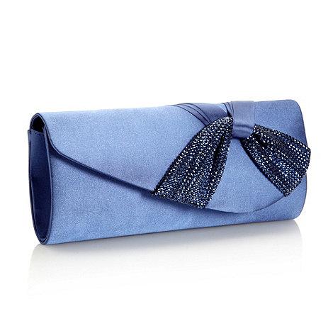 Debut - Blue sequin twist clutch bag