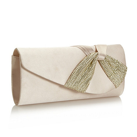 Debut - Dark cream sequin twist clutch bag