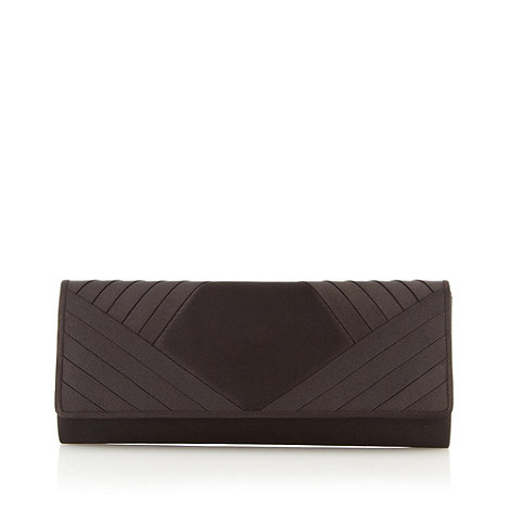 Debut - Black satin clutch bag