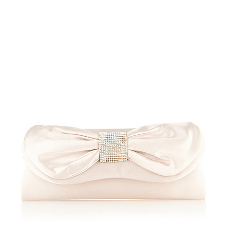 Debut - Pale gold bow feature clutch bag