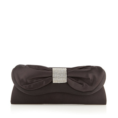 Debut - Black bow feature clutch bag