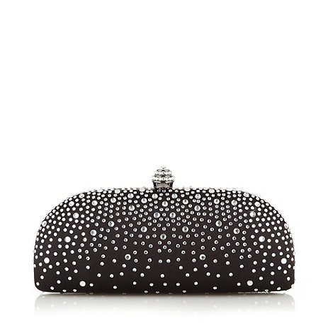 Debut - Black studded clutch bag