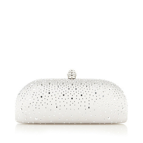 Debut - Silver studded clutch bag