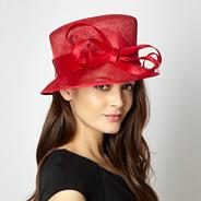 Red spiralled bow hat