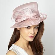 Rose pink spiralled bow hat