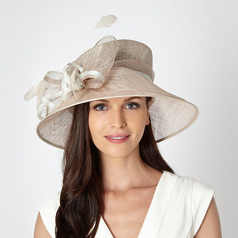 Hatbox - Cream metallic bow hat