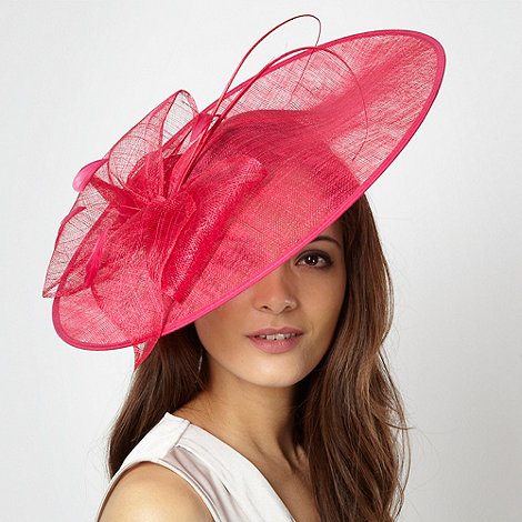 Hatbox - Pink bow quill saucer head piece