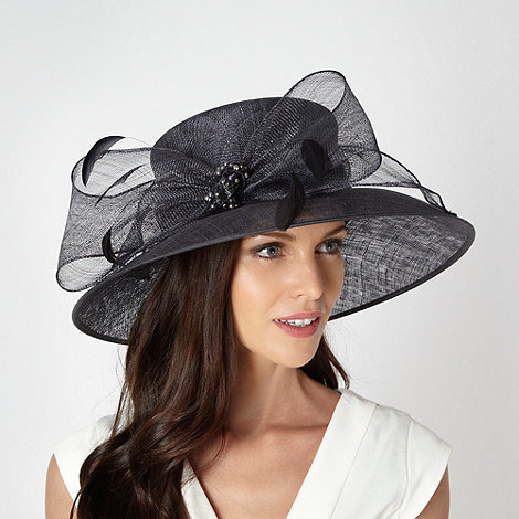 Hatbox - Dark grey two tone beaded bow hat