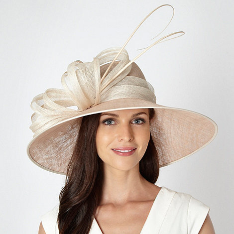 Hatbox - Taupe large pleated coil hat
