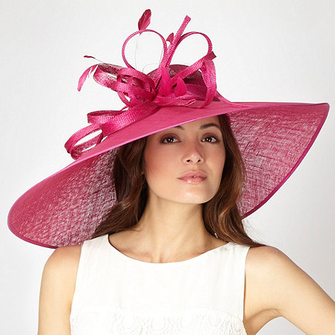 Hatbox - Pink asymmetric brim hat