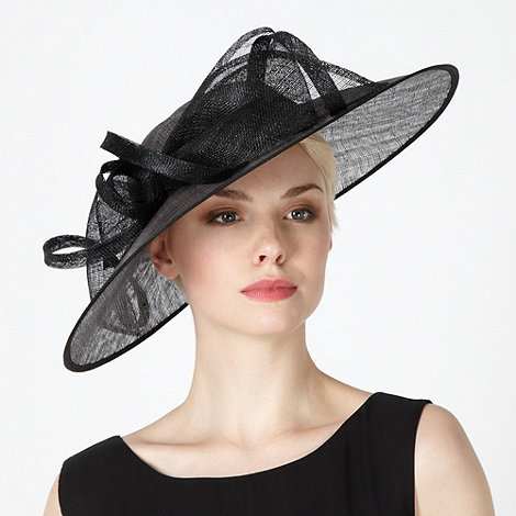 Hatbox - Black metallic occasion fascinator