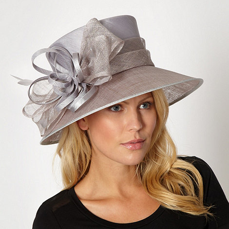Hatbox - Silver feather bow hat