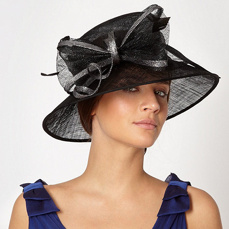 Hatbox - Black double loop bow hat