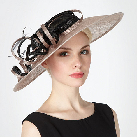 Hatbox - Beige two tone occasion fascinator