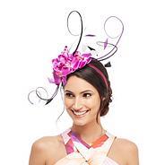 Purple orchid headband
