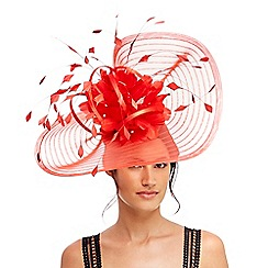 Star by Julien Macdonald - Red 'Eva' pleated floral fascinator
