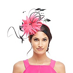 Star by Julien Macdonald - Pink spiky feather button fascinator