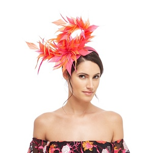 Star by Julien Macdonald Multi-coloured feather twist band fascinator