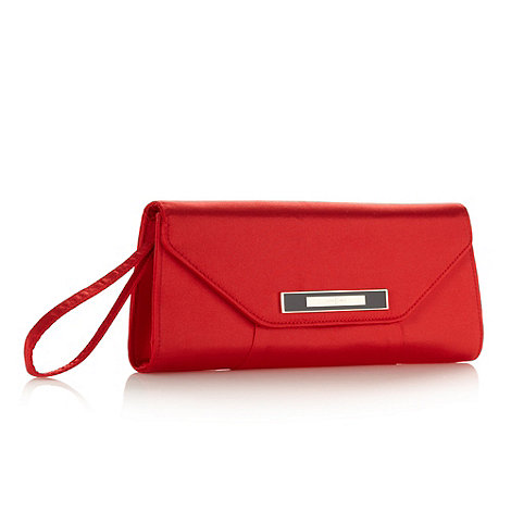 J by Jasper Conran - Designer red satin clutch bag