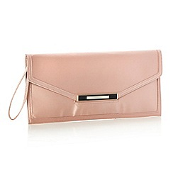 J by Jasper Conran - Designer pink silk slotted clutch bag