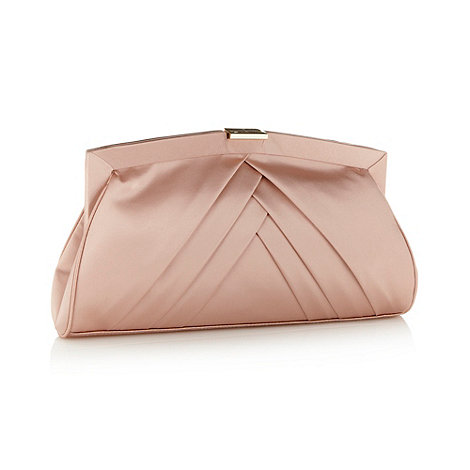 J by Jasper Conran - Designer pink pleated silk clutch bag