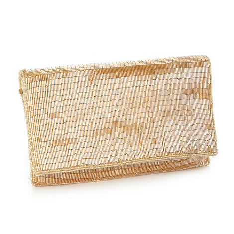 J by Jasper Conran - Designer gold beaded clutch bag