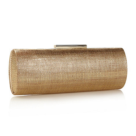 J by Jasper Conran - Designer gold textured clutch bag