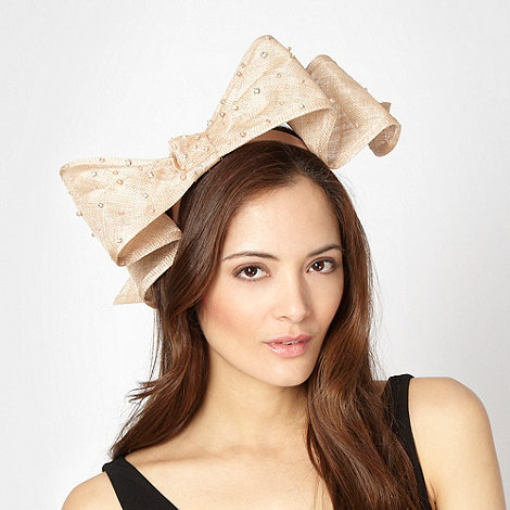 J by Jasper Conran - Designer taupe embellished bow hair piece