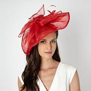 Designer red wave bow fascinator