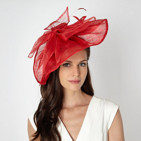 J by Jasper Conran - Designer red wave bow fascinator