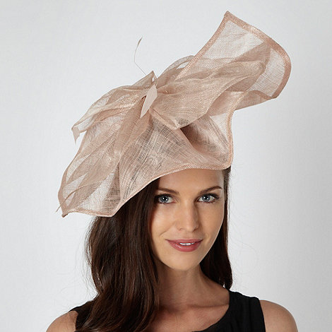 J by Jasper Conran - Designer peach oversized bow fascinator
