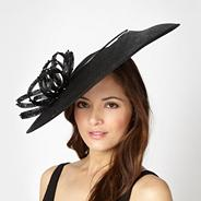 Designer black embellished loop saucer hair piece