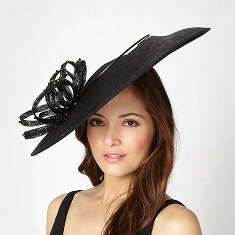 J by Jasper Conran - Designer black embellished loop saucer hair piece