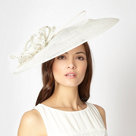 J by Jasper Conran - Designer ivory embellished loop saucer hair piece