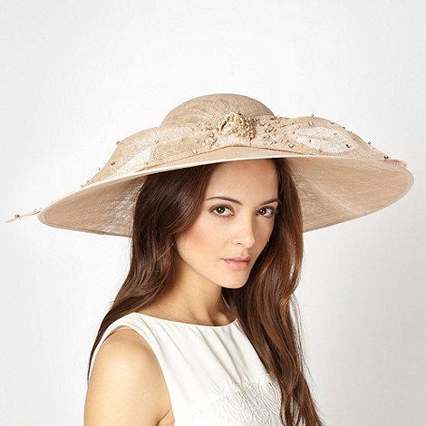 J by Jasper Conran - Designer taupe embellished bow hat