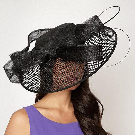 J by Jasper Conran - Designer black open weave down brim hair piece