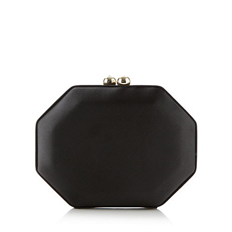 J by Jasper Conran - Designer black octagonal clutch bag