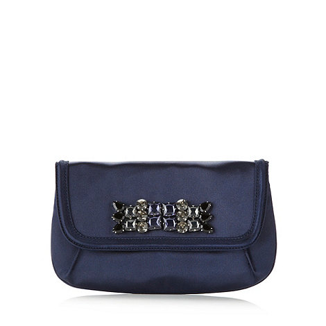 J by Jasper Conran - Designer navy jewelled front clutch bag