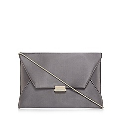 J by Jasper Conran - Grey satin envelope clutch bag