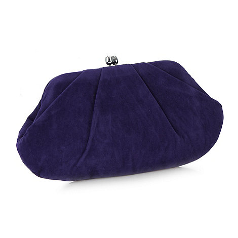Star by Julien Macdonald - Designer purple suedette tulip pouch bag