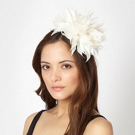 Star by Julien Macdonald - Designer cream feather corsage fascinator