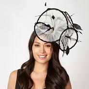 Designer white pleated ruffle fascinator
