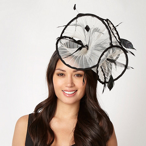Star by Julien Macdonald - Designer white pleated ruffle fascinator