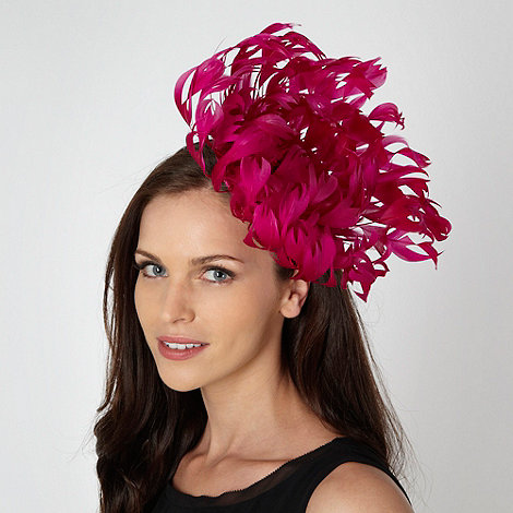 Star by Julien Macdonald - Designer bright pink oversized flower fascinator