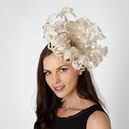 Designer cream oversized flower fascinator