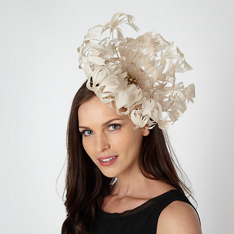 Star by Julien Macdonald - Designer cream oversized flower fascinator